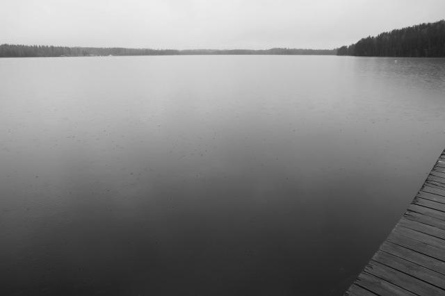 9:04 Uhr: Ankunft in der Forschungsstation. Wie immer führt mich mein erster Weg auf den Bootssteg und ich freu' mich schon so darauf im Sommer jeden Tag hier zu stehen. (Dann hoffentlich ohne Regen.)